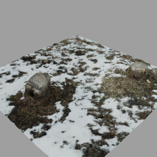Thumbnail: Two Tree Stumps on Snowy Ground