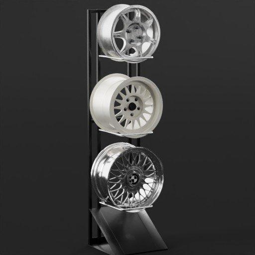 Alloy Rim Display Wheel Stand