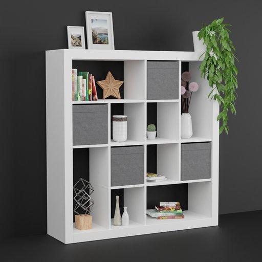 IKEA like shelf with decoration set