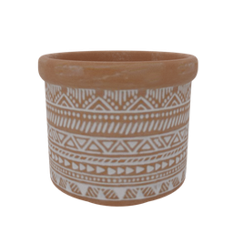 Thumbnail: Decorative red clay vase