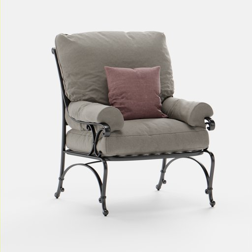 Thumbnail: Outdoor Armchair with Pillows