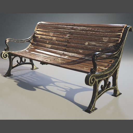 Thumbnail: Vintage Victorian Street Bench