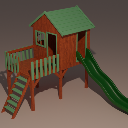 Thumbnail: Kids Playhouse with slide