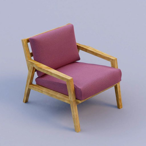 Thumbnail: purple fabric armchair