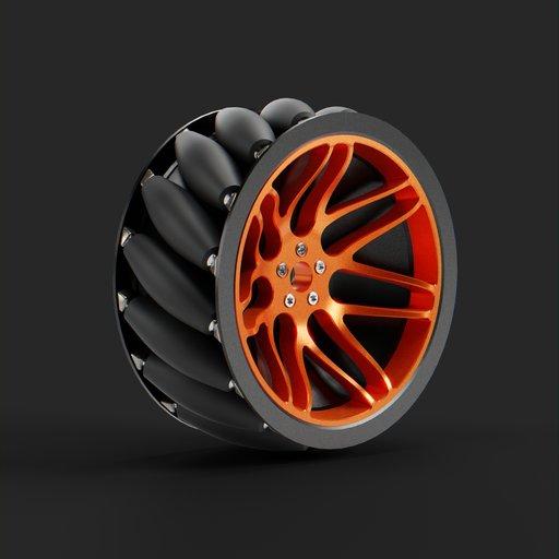 Thumbnail: Mecanum wheels for the self-propelled robot platform