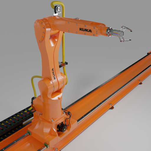 Robot KUKA AGILUS with Rig animate