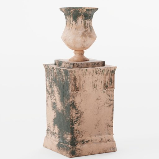 Terracotta moss pot with stand