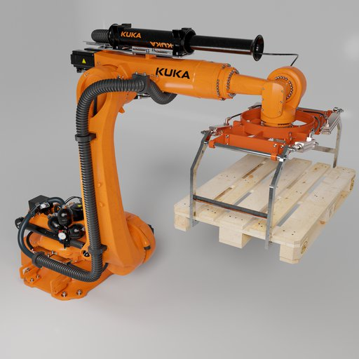 Robot KUKA KR210 + energy supply Flange