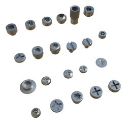 Thumbnail: Assorted Screw Head Profiles