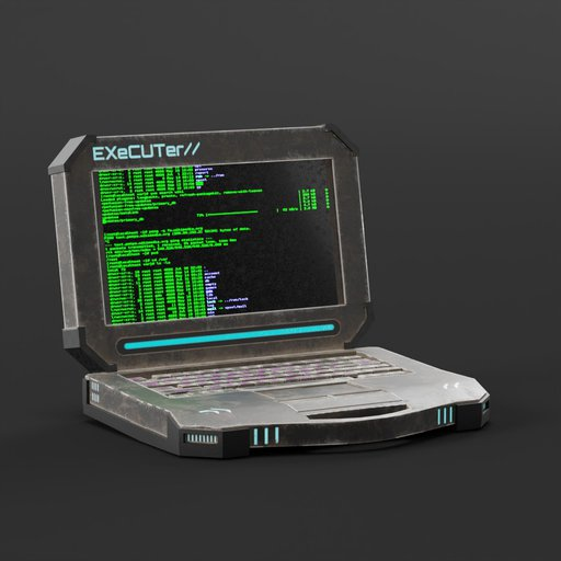 Thumbnail: Cyberpunk Laptop, Dirty.