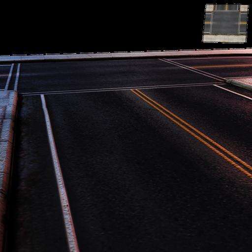 Thumbnail: Street Module 08 - Lowpoly - Intersection street Minor