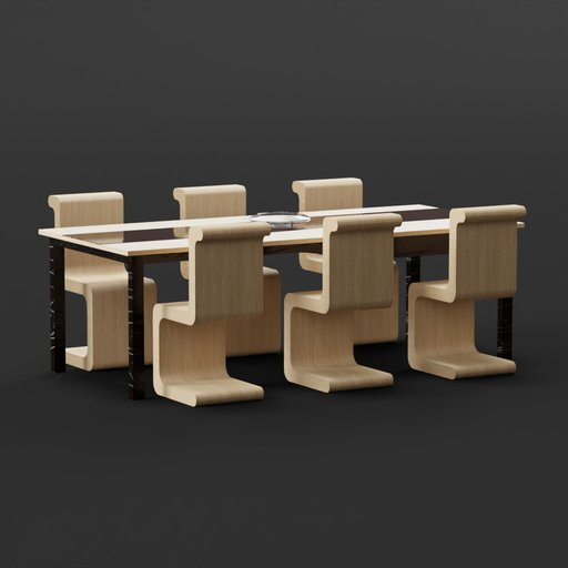 Thumbnail: Modern Table with Chairs