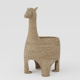Thumbnail: Wicker basket llama