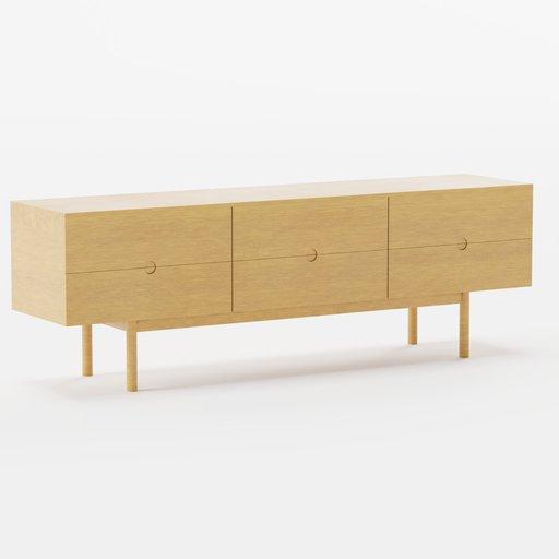 Thumbnail: Wooden Pine Sideboard