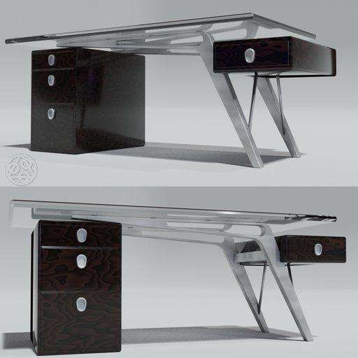 Thumbnail: Jetson Glass Top Desk - by DJH