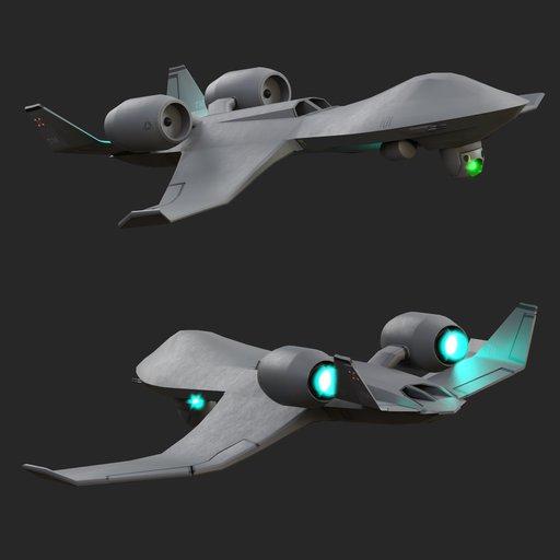 Futuristic drone UAV