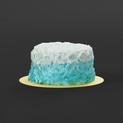 Thumbnail: Blue chocolate cake
