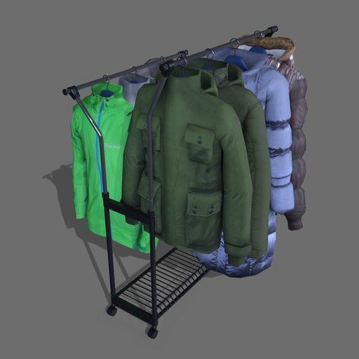 #2 jackets on a hanger