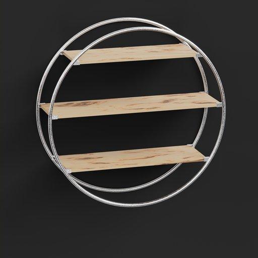 Circle Wood Shelf
