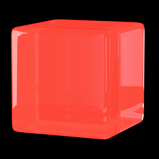 Thumbnail: Glowing glass red