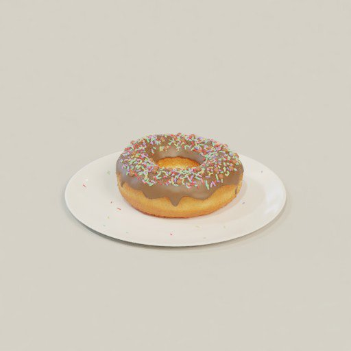 Thumbnail: Donut with plate