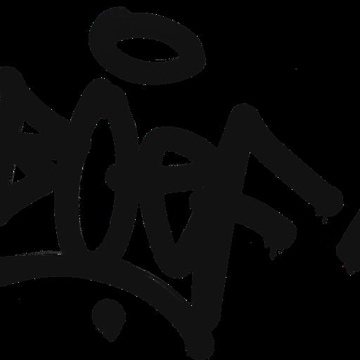 Thumbnail: Graffiti decal boef