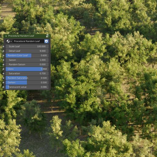 Thumbnail: Lowpoly tree (with random season)