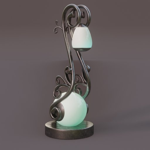 Thumbnail: Swirl pattern structured outdoor lamp