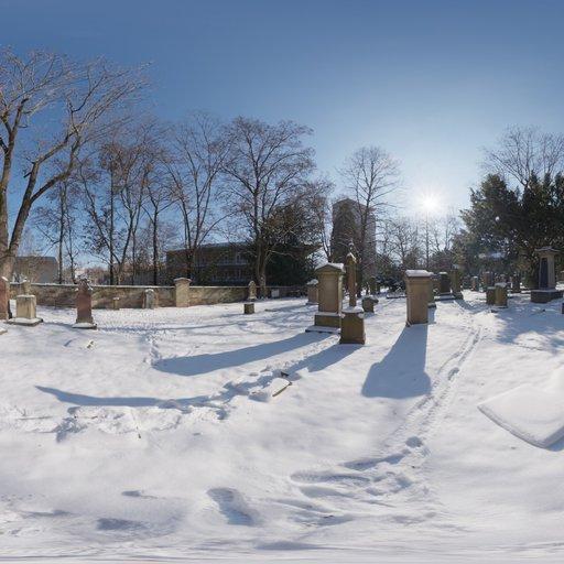 Thumbnail: Snowy Cemetery