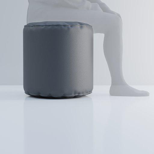 Thumbnail: Leather stool or Pouf