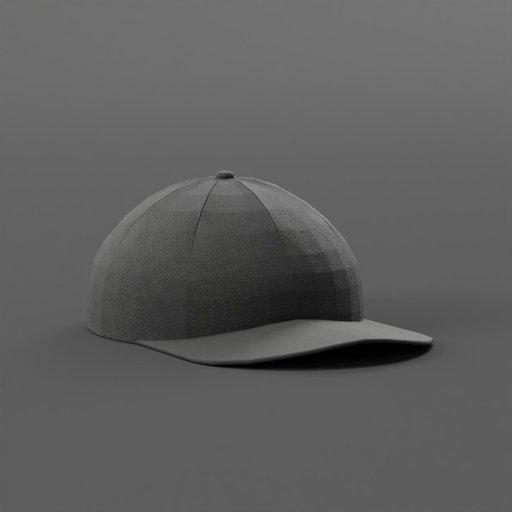 Thumbnail: Black Fabric Baseball Cap
