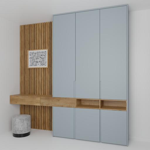 Bedroom wardrobe wall