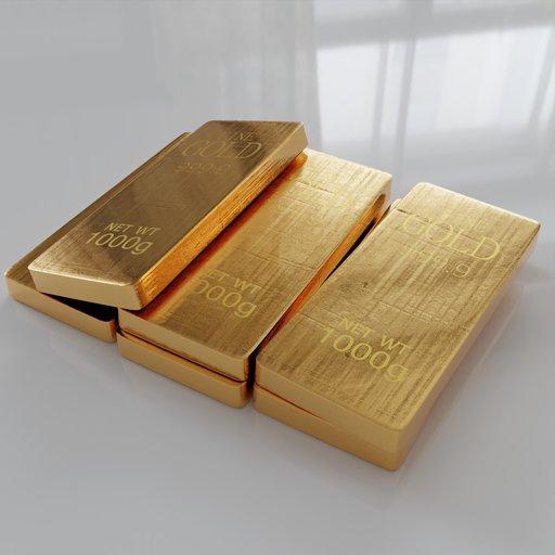 Thumbnail: Gold Bars 6x 1000g