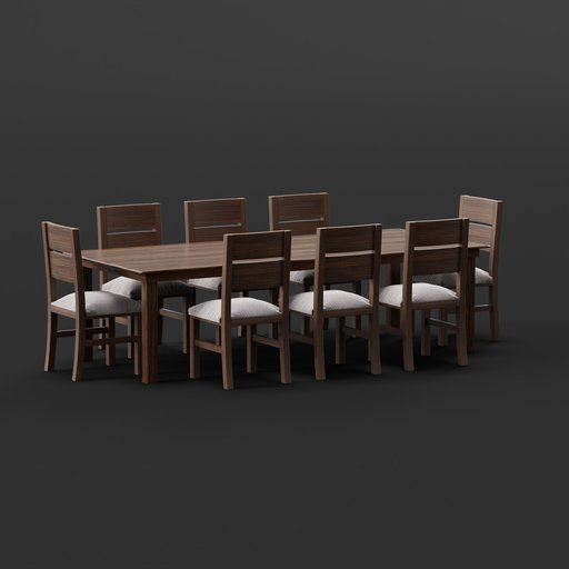 Thumbnail: Table with 8 Chairs