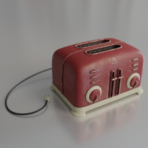 Toaster in retro style