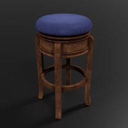 Thumbnail: Barstool #2 (old, Woodern, Fabric)