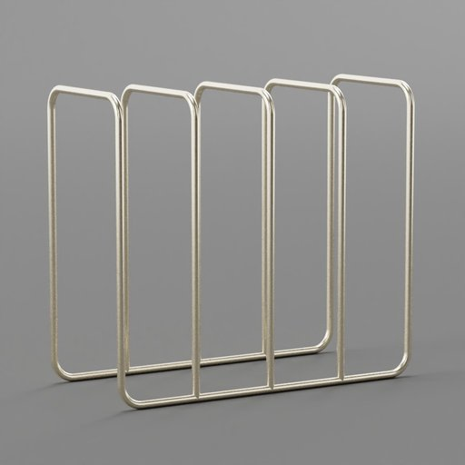 Thumbnail: Brass Metallic Magazine Rack