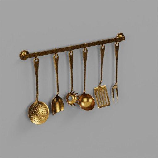 Set kitchen Gold