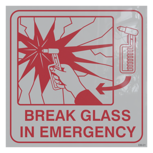 Thumbnail: Sticker - Break Glass In Emergency