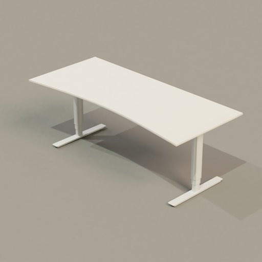 Thumbnail: Office Collection 01 PC Table (White)