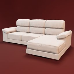 Thumbnail: Sofa Noemi 3 seats and Cheslong