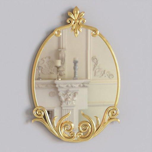 Thumbnail: Baroque Ornamental Decorated Mirror
