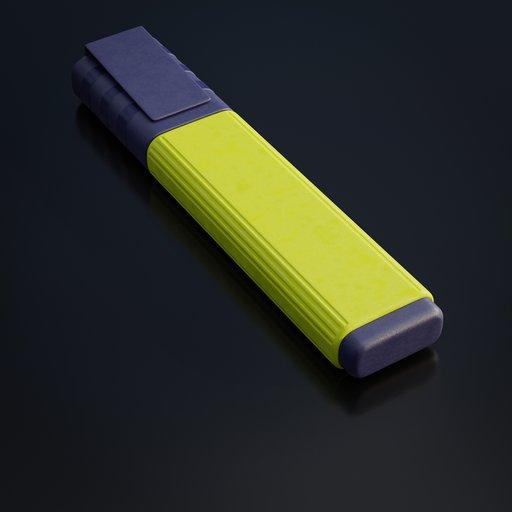 Thumbnail: Yellow textmarker pen
