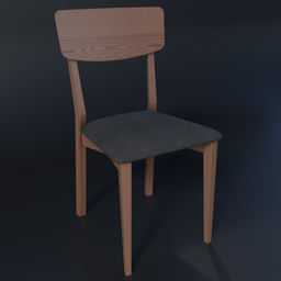 Thumbnail: Jenson Dining Chairs, Dark Stain Oak