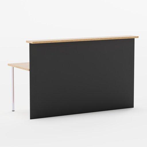 Thumbnail: Corner Reception Desk Extension