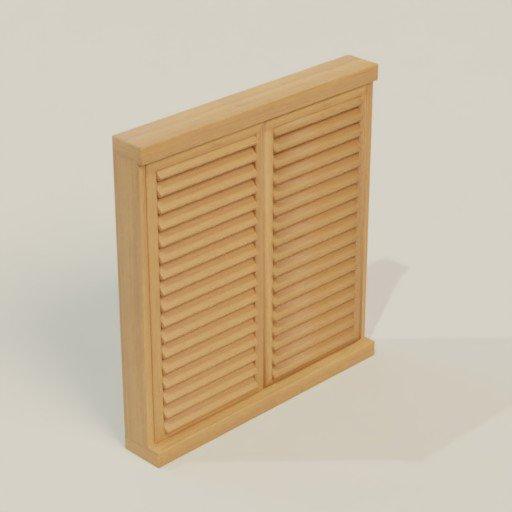 Thumbnail: Wood Window 106x17x12