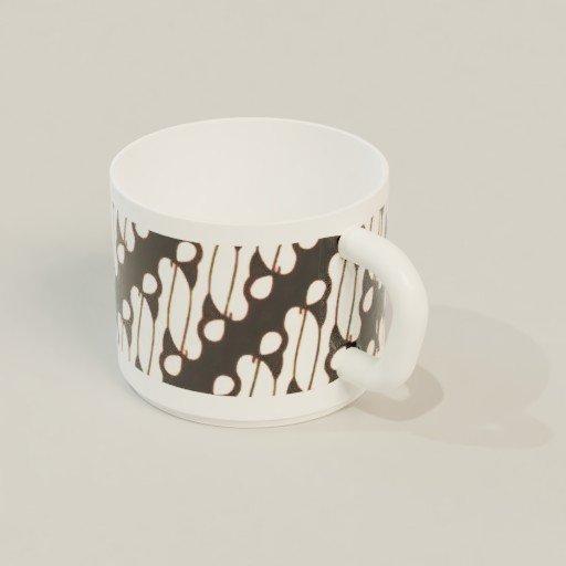 Thumbnail: Coffee Mug With Batik Pattern