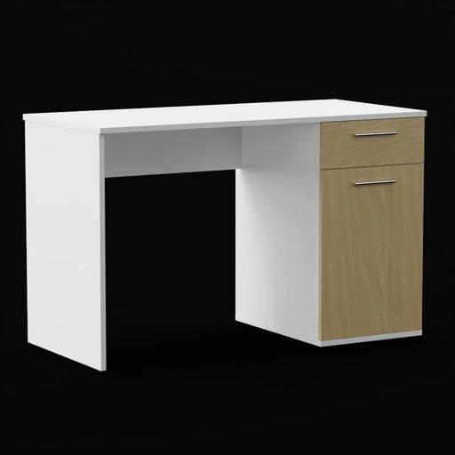 Thumbnail: Office desk white/oak