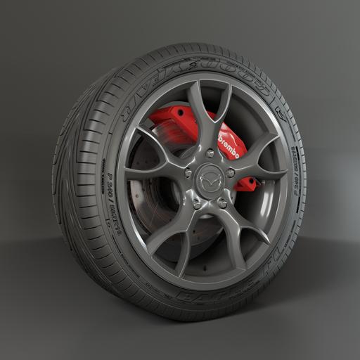 Thumbnail: Mazda Wheel with brake