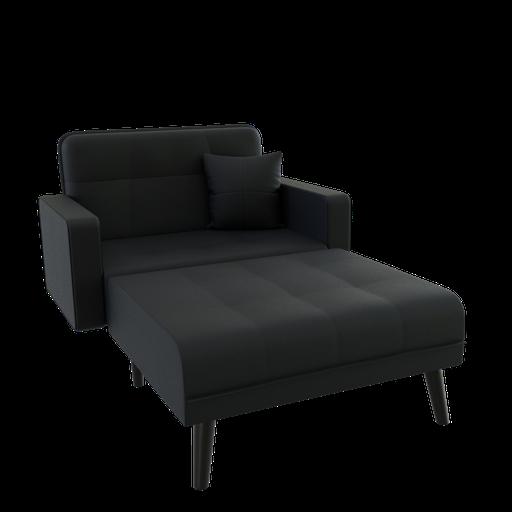 Thumbnail: Black sofa bed